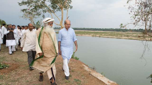 Sadhguru with Shri Anil Madhav Dave, MP