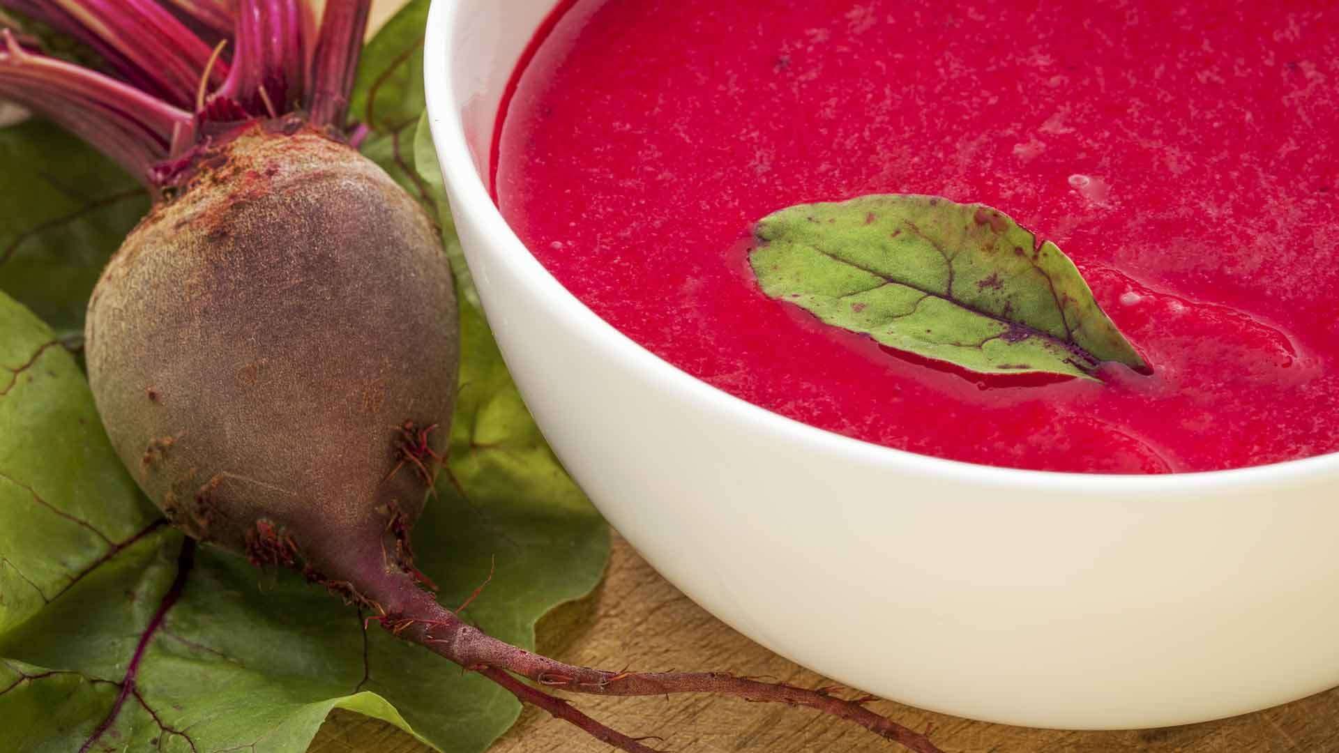 Beetroot and Cardamom Soup