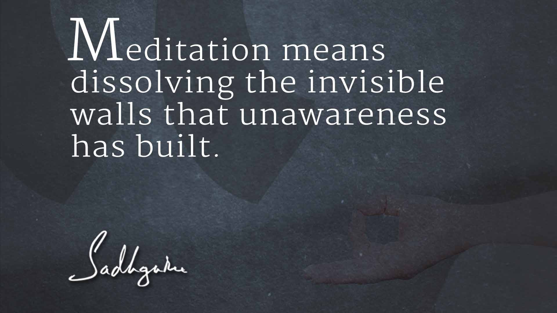Sadhguru Meditation Quotes