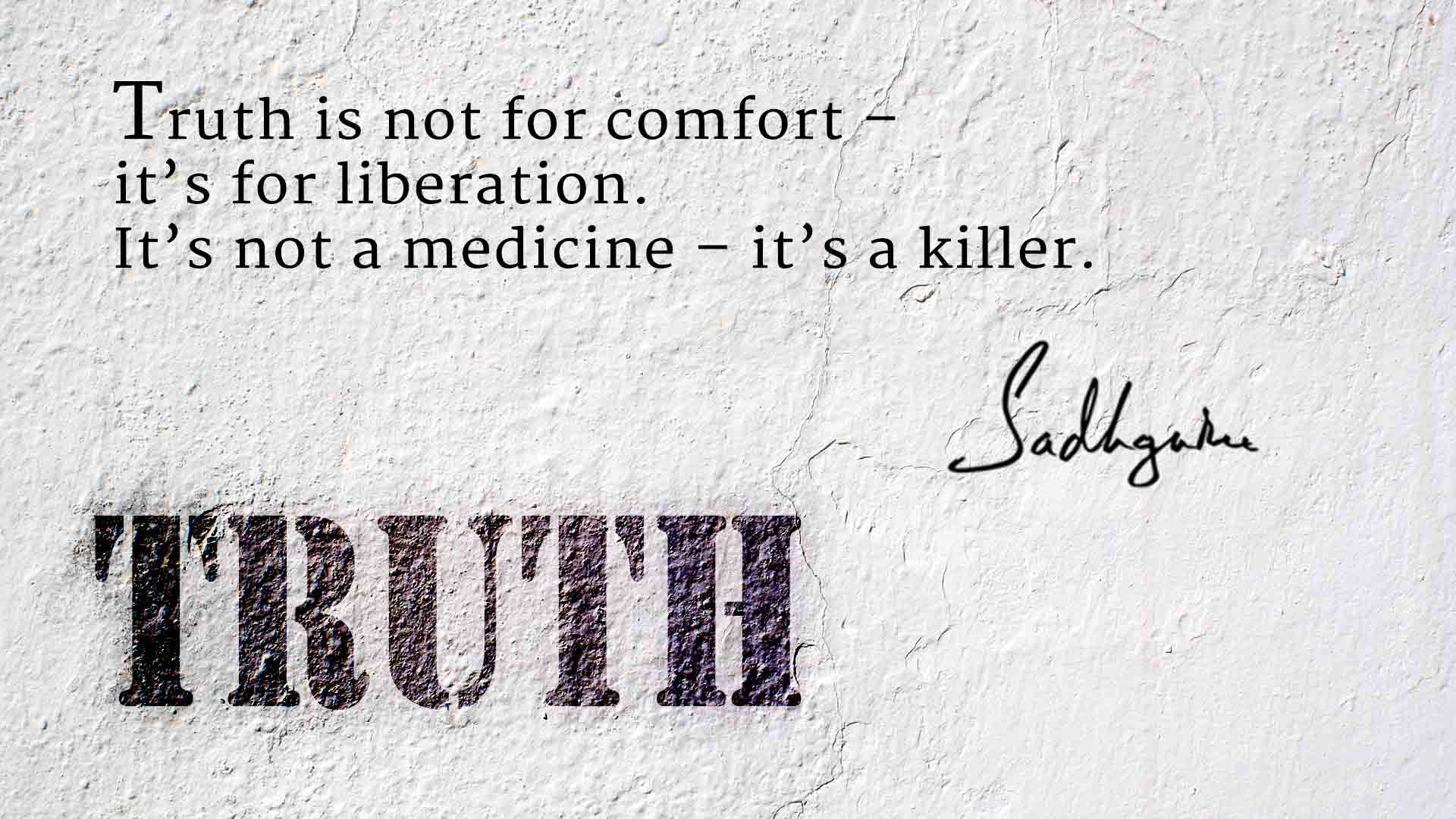 5 Quotes About Truth From Sadhguru