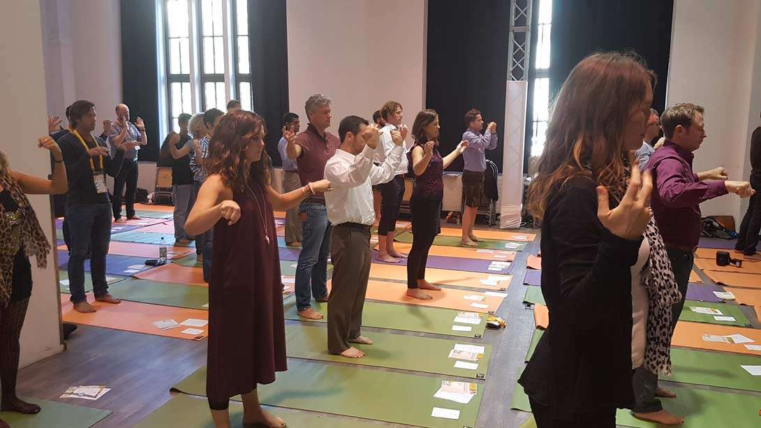 CEOs and Entrepreneurs Learn Isha Yoga at International CEO Forum, Munich, Germany