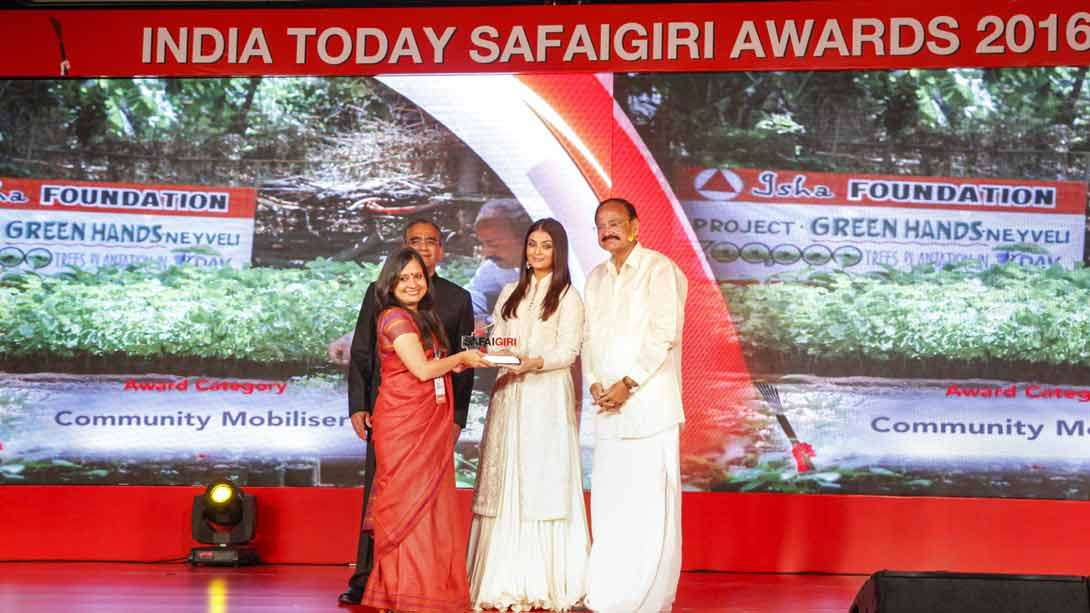 Project GreenHands Receives India Today Safaigiri Award