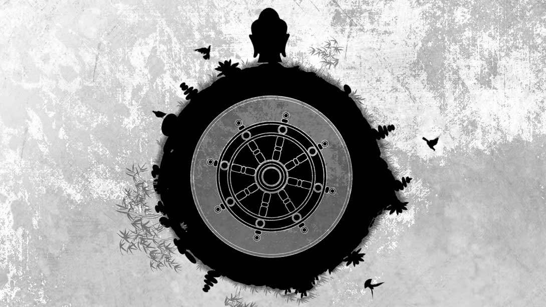 Gautama Buddha and the Wheel of Dharma