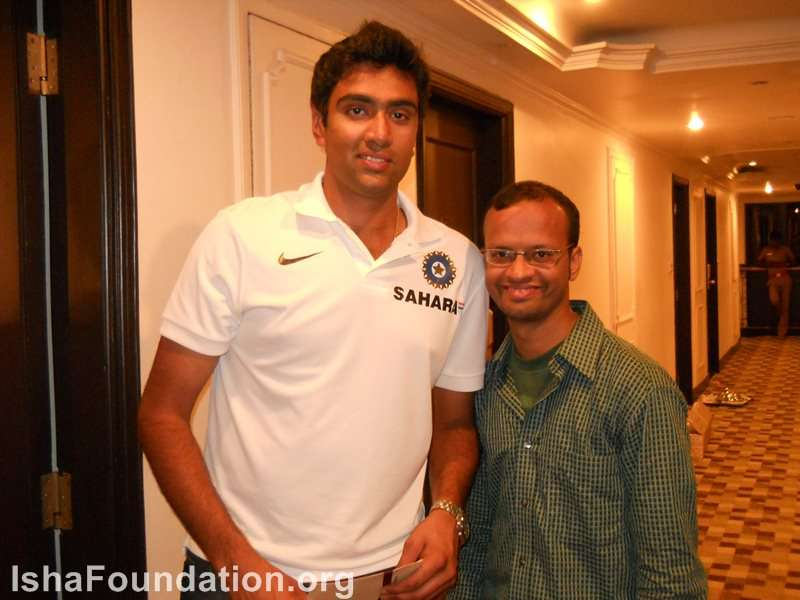 With Ravichandran Ashwin