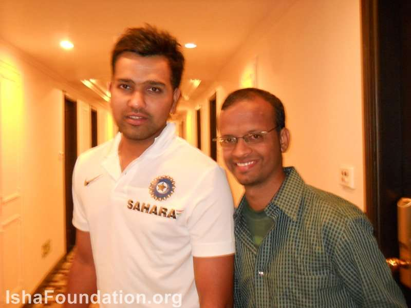 With Rohit Sharma