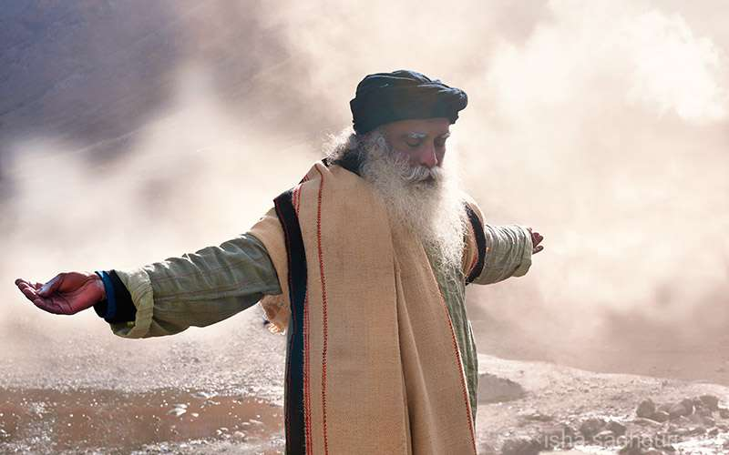 """Quotes Inspirational - Sadhguru explains that the only reason we do not realize that the """"hand of the Divine"""" is upon us is because it is """"on"""" all the time."""