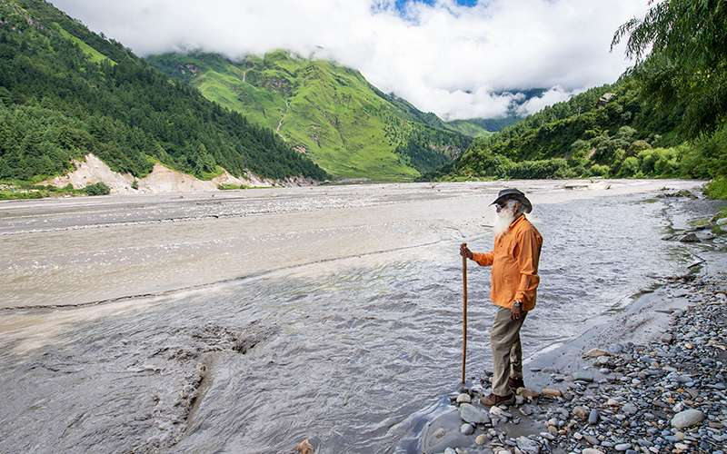 Quotes about Nature - Sadhguru explains why in India, rivers were not seen as geographical entities but as life-giving gods and goddesses, and how this was an important part of human wellbeing.