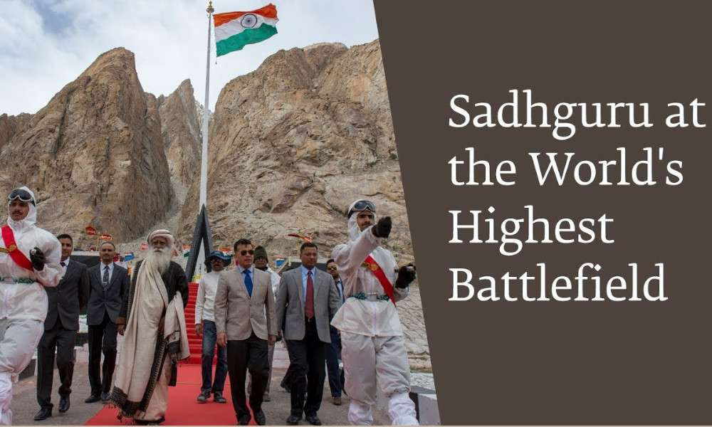 sadhguru wisdom audio | sadhguru at siachen worlds highest battlefield