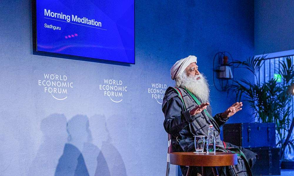 Davos 2020 - Sadhguru at World Economic Forum - Bringing Meditation and Consciousness