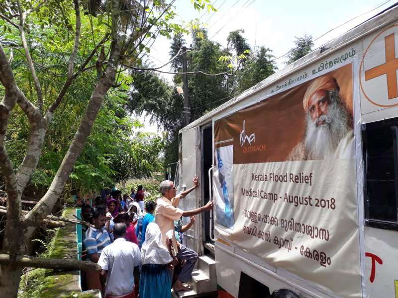 Kerala Flood Relief Work – Isha's On-Ground Action