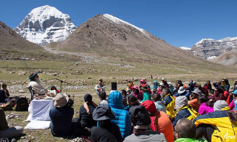 Sadhguru gives a darshan at Darchen, base of Mount Kailash | What a Pilgrimage to Kailash Really Means