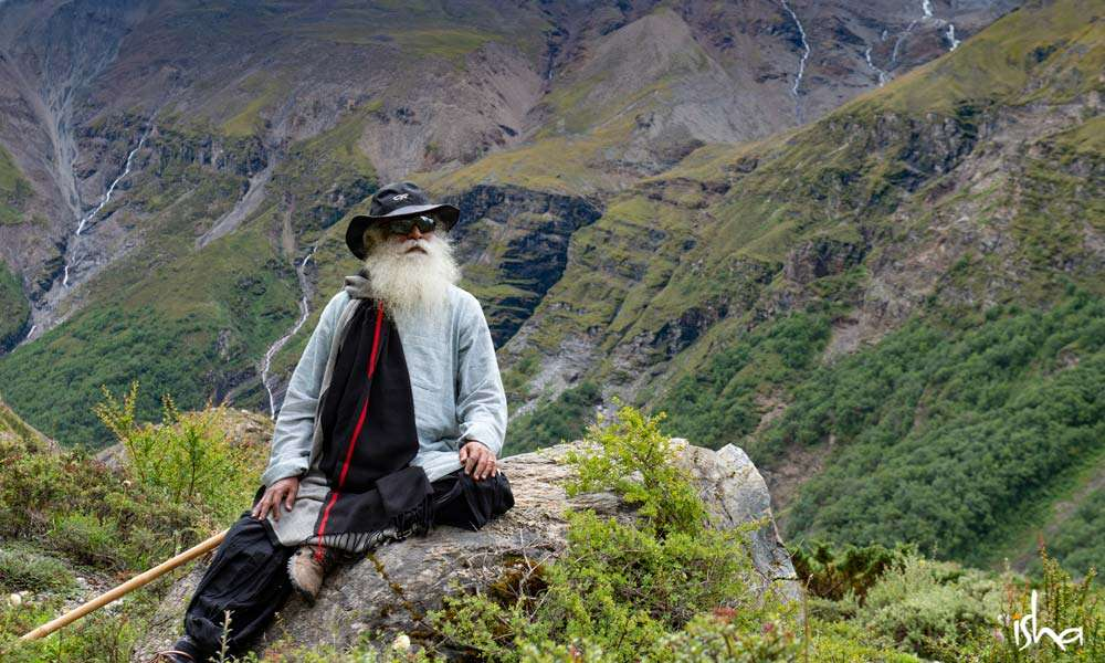 Sadhguru at the foot of the Mighty Mt. Annapurna, Himalayas, Nepal | Mountain Lust