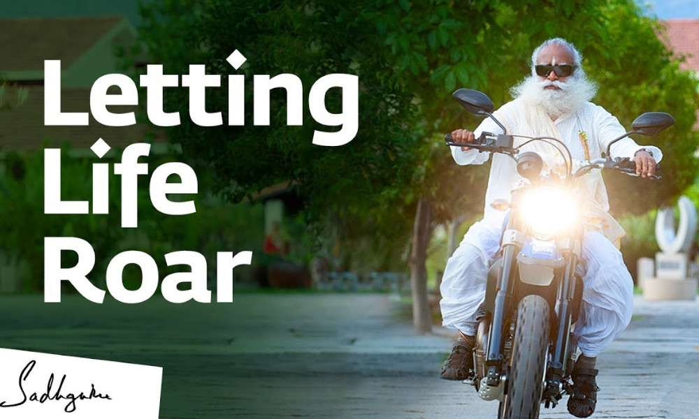 sadhguru spot video | letting life roar
