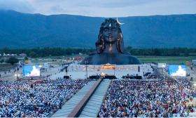Adiyogi and devotees on Guru Purnima