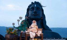Sadhguru in Front of the Adiyogi on Guru Purnima