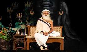 Sadhguru and Trishul