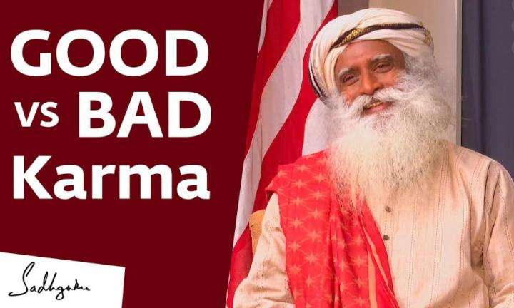 sadhguru wisdom video | does good karma cancel out bad karma