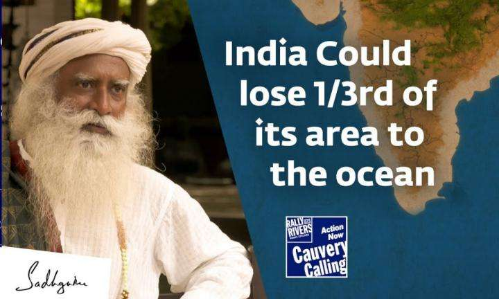 sadhguru wisdom video | india could lose 1by3 of its area to the ocean