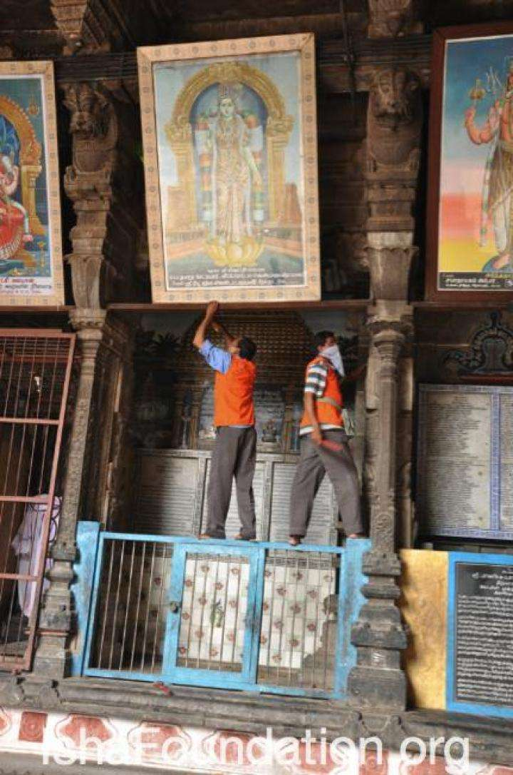 Chidambaram Temple Cleaning