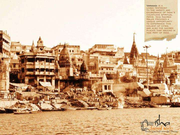Kashi from the banks of the river Ganga - The Presence of Shiva - On the Trail of the First Yogi