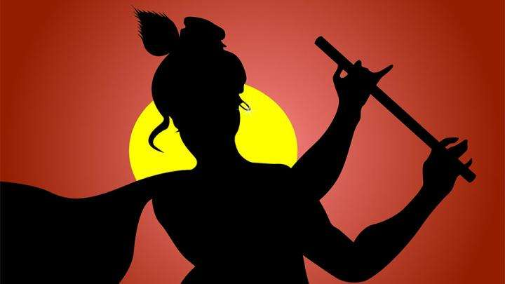Krishna silhouette - A Larger Slice of Life