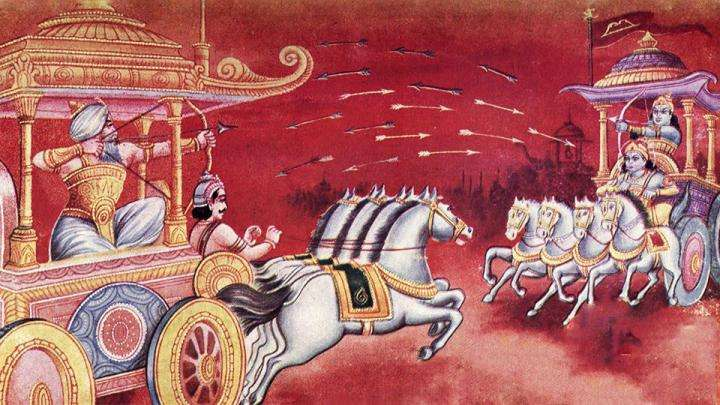 Bhishma, Arjuna fight during the Kurukshetra - Krishna's Game of War