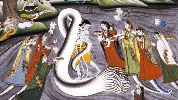 Krishna subdues the serpent, Kaliya - Krishna in Gokula