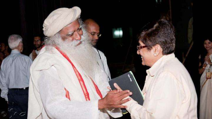 Sadhguru and Kiran Bedi