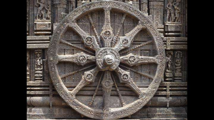 Dharmachakra, Wheel at Konark Sun Temple
