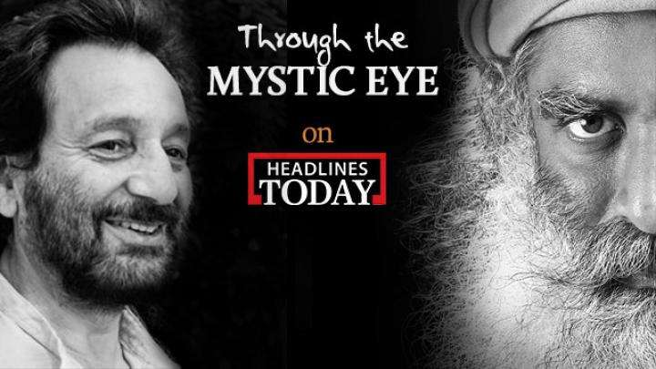 Sadhguru with Shekhar Kapur on Headlines Today