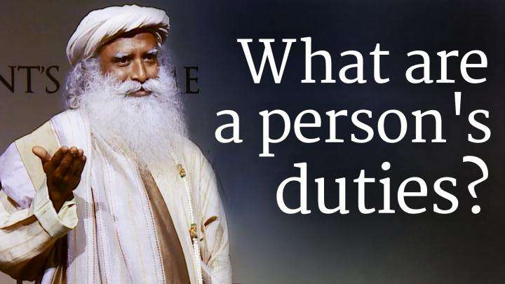 What are a person's duties?