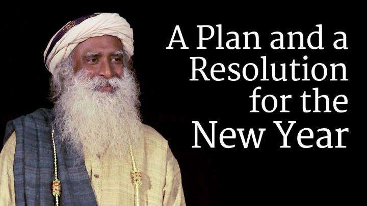 A Plan and a Resolution for the New Year