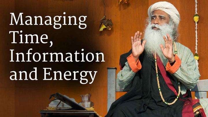 Managing Time, Information and Energy