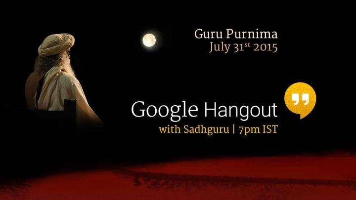 Google Hangout with Sadhguru
