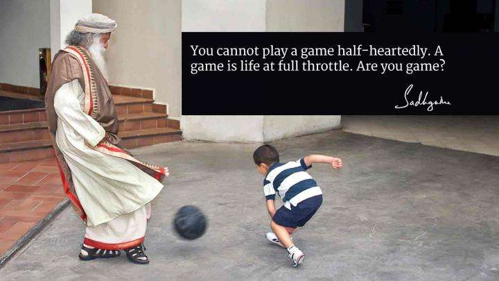 Sadhguru's Quotes on Sport