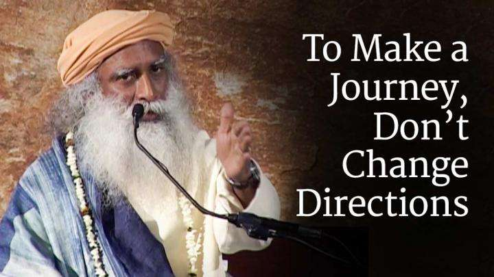 To Make a Journey, Don't Change Directions