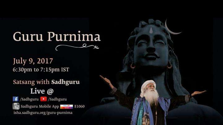 Guru Purnima 2017 with Sadhguru – Join the Live Webstream