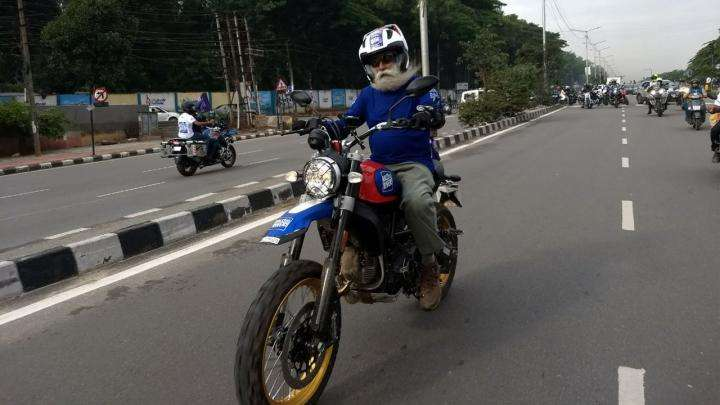 Sadhguru on a Motorcycle during Rally for Rivers