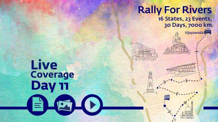 Rally For Rivers Day 11 Vijayawada