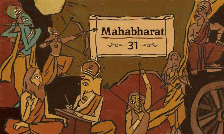 pandavas play the game of dice in Mahabharat
