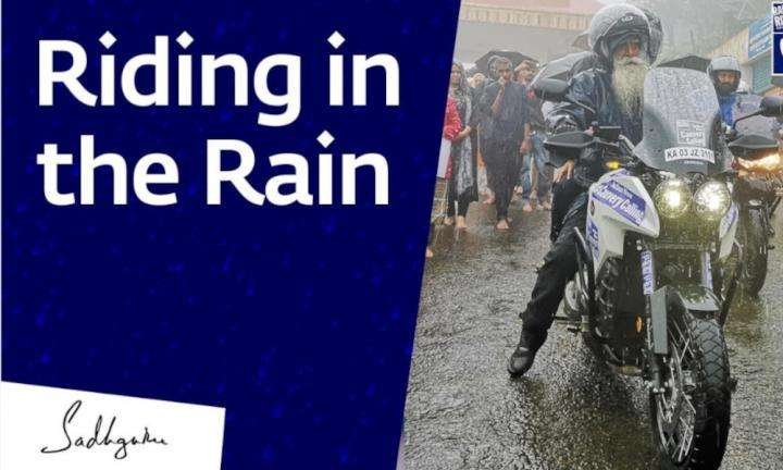 sadhguru wisdom video | Why Sadhguru Loves Riding in the Rain
