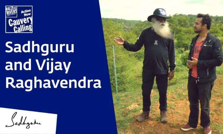 Sadhguru Wisdom Video | Sadhguru and Vijay Raghavendra at Shivanasamudra Waterfalls