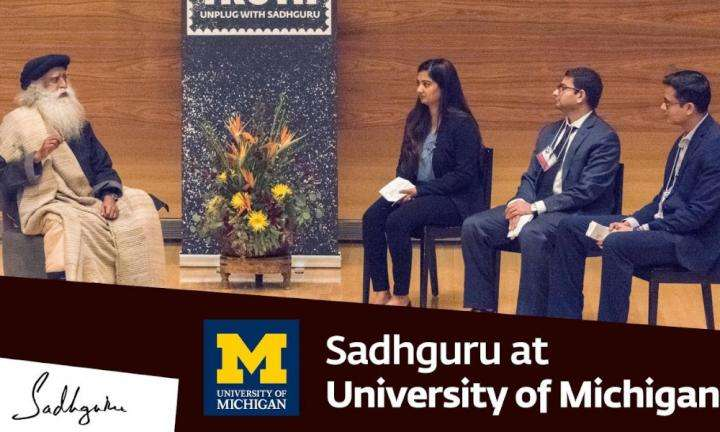 sadhguru wisdom video | sadhguru at university of michigan - youth and truth