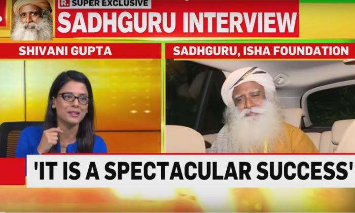 sadhguru wisdom video | sadhguru interview on republic tv | chandrayaan is indias success not congress or bjps