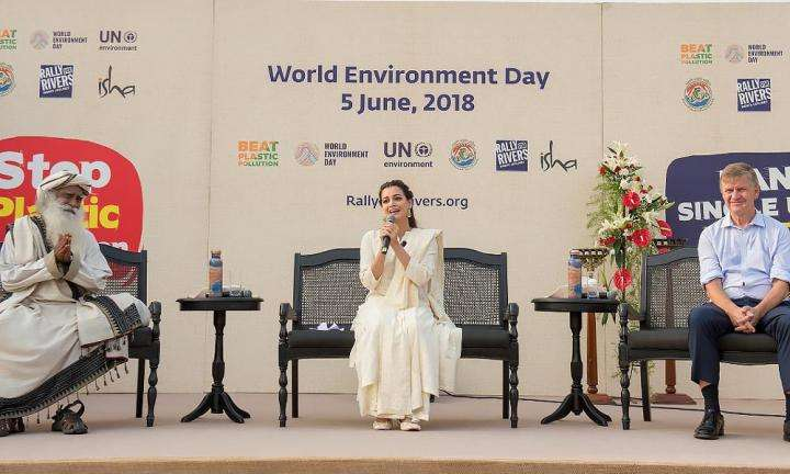 Erik Solheim & Dia Mirza in Conversation with Sadhguru - World Environment Day, June 5, 2018