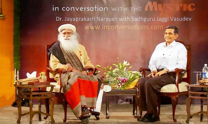 Moving India - Part 1 - Dr. Jayaprakash Narayan with Sadhguru