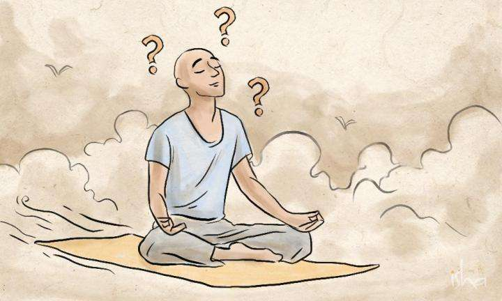 sadhguru-isha-wisdom-article-image-watercolor-painting-guy-meditating-flying-yoga-mat-how-do-i-handle-confusion-on-spiritual-path