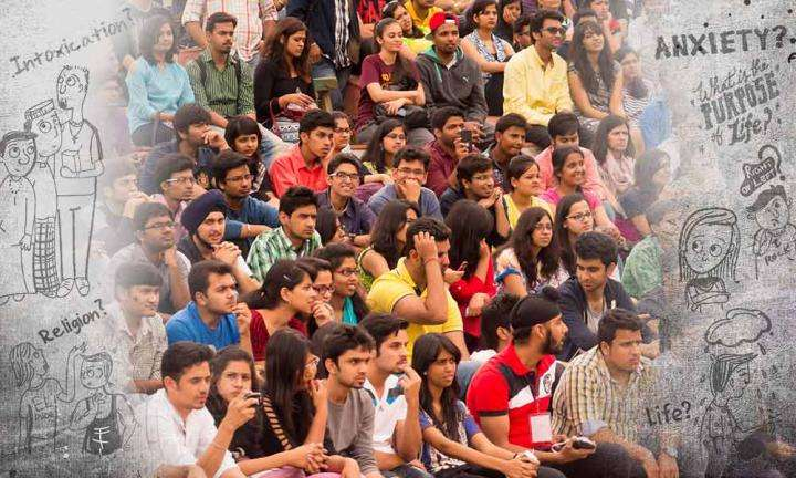 A group of Indian youth | Why Do Young Indians Resist Yogic Sciences?