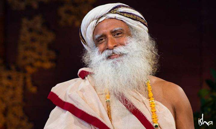"""Sadhguru speaking during the """"In the Lap of the Master"""" event - July 28-29,2018 