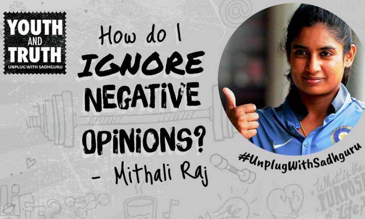 How to Ignore Negative Opinions? Mithali Raj Asks Sadhguru